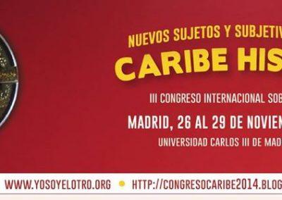 Cartel III Congreso Internacional sobre el Caribe 2014