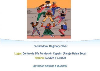 Cartel Taller Participación Intercultural. Mujeres y acción social. Almería.