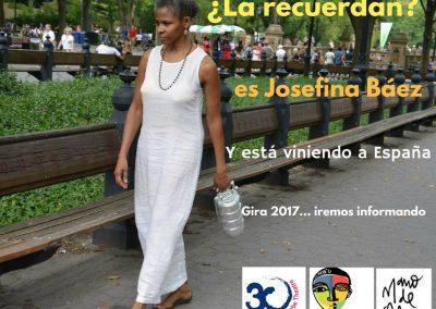 Cartel gira en España de Josefina Baez 2017
