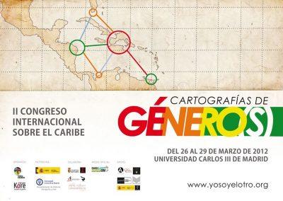Cartel presentación del II Congreso Internacional sobre el Caribe.