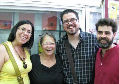 Diana Balboa con Dagmary Olivar, jesús del Valle y Santiago Tubío. 2012