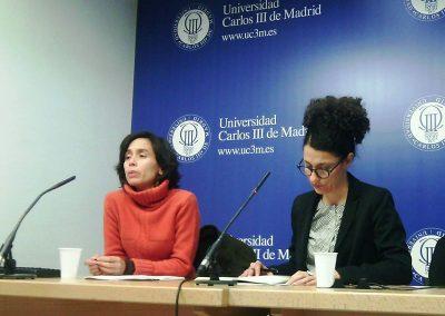 Magdalena López y Adriana López-Labourdette durante el III Congreso Internacional sobre el Caribe
