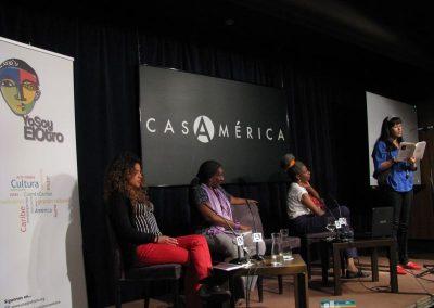 Mayra Santos, Rosa Silverio, Lilian Pallares y Josefina Baez. Presentación en Casa de América II Congreso Internacional sobre el Caribe.