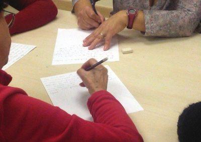 Taller escritura creativa. Programa Integra. Ayuntamiento de Alcobendas. 17 enero.